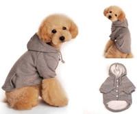 hoodies do animal de estimação do gato venda por atacado-Pequeno cão gato filhote de cachorro pet hoodie roupas de inverno casaco de algodão camisola jaqueta vestuário