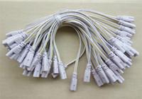 alambres de pasador al por mayor-Conector de tubo LED de 3 pines 20 cm 30 cm 50 cm 100 cm T4 T5 T8 trifásico Led iluminación de la lámpara Conexión Cable de cable de extremo doble