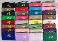 bileklik çantası çantası toptan satış-Kadın KS PU Deri Cüzdan Bileklik Fermuar Çanta Debriyaj Çanta Açık Seyahat Spor Kredi Kartı Para Çantaları Kız Çanta Sikke çanta 32 Renkler