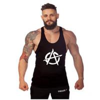 жилеты для мышц оптовых-Летняя спортивная одежда новый спортивный стиль жилет мужской бодибилдинг досуг спортивный жилет мышцы мода