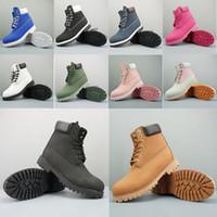 botas de vaquero negras al por mayor-2019 Brand Luxury Designer Boots para hombre mujer mujer TBL negro blanco rojo Camo cuero Cowboy invierno botas plataforma tobillo para senderismo