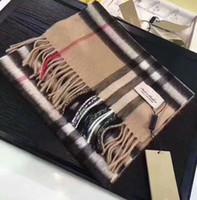 echarpe georgette longue achat en gros de-De haute qualité Classique 100% Cachemire Foulard Designer De Luxe Georgette Femmes Foulard Élégant Dames Wrap Longues écharpes 180x35cm