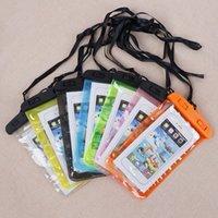 brieftasche hülse universal großhandel-Wasserdichte PVC-Packsäcke Universal Underwater Cases Pouch Sleeve mit Umhängeband und Verschlussklemme für iPhone Samsung Galaxy Bis zu 6,0 Zoll