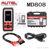 opel service reset tool al por mayor-Herramienta de análisis de código de Autel MaxiDiag MD808 Lector de Servicio Profesional de motor / transmisión / SRS / ABS / EPB / aceite Reset / DPF / SAS y BMS