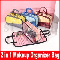 Wholesale stylish girls bags resale online - Cosmetic Organiser Stylish Brush Pouch Makeup Bags Portable Makeup Case Toiletry Wash Bag in Pouch For Women Girls