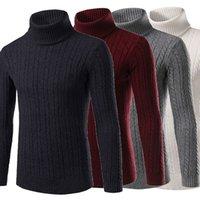 ingrosso camicia calda e spessa del mens-Maglieria pullover maglione dolcevita t-shirt collo alto maglioni caldi invernali uomo
