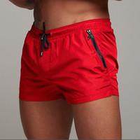 maiôs sexy para boxers venda por atacado-Swimsuit Sexy Swimwear Homens Calções De Banho De Natação Sunga Mens Hot Swim Briefs Boxer Surf Board Calções de Praia Cueca Shorts de Banho SH190706