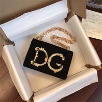 Wholesale bedding d resale online - D Letter Genuine Leather Handbags Authentic Gold Plating Top Quality Printing Purse DesignerWomen Bags Girls Shopping Bag