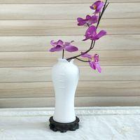 décoration de meubles chinois achat en gros de-Artisanat en céramique vase cheongsam poterie brute glaçure pulvérisée à la main style chinois créatif salon meubles décoration classique