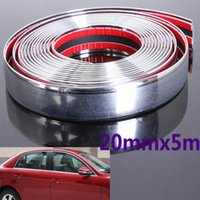 Wholesale chrome trim strips resale online - 20mm M Auto Car Styling Decorative Moulding Strip Trim Self Adhesive Protecter Decal Chrome Styling Van