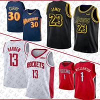 mezclar órdenes al por mayor-ventas NCAA Mens universidad caliente jersey jerseys 1 Sion Williamson 13 Harden baloncesto LeBron James 23 30 Stephen Curry alta calidad orden mezclada