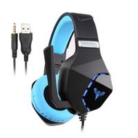auriculares mm al por mayor-G600 Gaming Headset Auriculares estéreo para PC de 3,5 mm con micrófono Luces LED para PS4 para juego portátil para auriculares para XBOX ONE
