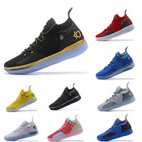 chaussure de basket-ball mens taille kd achat en gros de-2019 KD 11 EP Blanc Orange Mousse Rose Paranoid Oreo ICE Hommes Chaussures De Basketball Kevin Durant XI KD11 Sport Baskets Taille 40-46