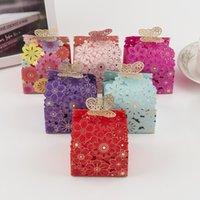 ingrosso scatole dolci della farfalla-Scava fuori una gioiosa farfalla Wedding Sweet Sugar scatole regalo scatole scatola di forniture per matrimoni