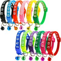 Wholesale small bells free shipping for sale - Group buy Hot Sale Easy Wear Cat Dog Collar With Bell Adjustable Buckle Puppy Pet Supplies Cat Dog Accessories Small Dog