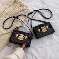 Wholesale plain clutch bags purses resale online - clutch Box Handbags for women Evening Bags Excellent Quality Leather purse Fashion Box Brick Messenger lady Shoulder Bag