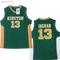 продажа майки оптовых-Мужчины Brandon Ingram Джерси 13 зеленый возврат баскетбол средней школы Kinston трикотажные изделия спортивная форма дышащий высокое качество на продажу