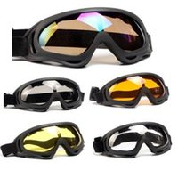 Wholesale snow ski goggles for sale - Ski Snowboard Goggles Mountain Skiing Eyewear Snowmobile Sport Gogle Snow Glasses Dustproof Moto Cycling Sunglasses LJJR259