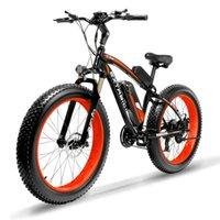 freno de moto al por mayor-Cyrusher XF660 1000W suspensión E moto neumáticos con toda la grasa 21 velocidades freno de disco mecánico bicicleta eléctrica