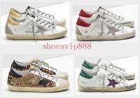 Wholesale old navy shoes resale online - Fashion Old Style Sneakers Genuine Leather Villous Dermis Casual Shoes Men Women Luxury Superstar Trainer Size A32