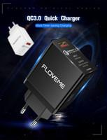 netzteil usb ladegerät großhandel-FLOVEME 18W Quick Charge 3.0 USB-Ladegerät QC 3.0 Schnelle Handy-Ladegerät Power Adapter Versorgung für iPhone Samsung S8 S9 Xiaomi mi 9