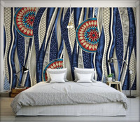 Wholesale traditional bedding resale online - 3d Wall Paper Decorative Painting d Wallpaper for Living Room Backdrop Home Improvement Bohemia Murals Wallpapers Bedding Room