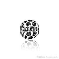 encanto único de pandora al por mayor-Único hueco de plata perlas sueltas calados de malla encantos del panal se adapta a Pandora pulseras colgante de joyería que hace DIY accesorios regalo HJ147