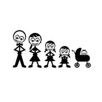 kişiselleştirilmiş yansıtıcı araba çıkartmaları toptan satış-Aile Dostu Kişiselleştirilmiş Özel Araba Çıkartmaları Yansıtıcı Su Geçirmez Vinil Çıkartmaları Siyah / SilverCA-594