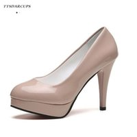 Wholesale shoes big mouth online - Designer Dress Shoes TTSDARCUPS CM high heels Waterproof platform CM Sexy and thin round head shallow mouth foot Korean Big size