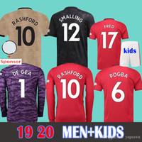 xxl uzun kollu gömlek toptan satış-Football Shirts Soccer Jersey Manchester united 2019 Fincan Gömlek LUKAKU ALEXIS SANCHEZ ADAM RASHFORD Futbol Forması 18 19 POGBA MARTIAL De Gea UTD MATA MATIC Çocuklar Birleşik EA Futbol Gömlek
