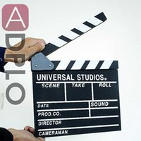 ingrosso grandi tavole bianche-Direttore tavola di legno Video Scene Clapper Film Film Slateboard Cut Prop Promozione Dimensioni 30cm x 27 centimetri Large Nero Bianco