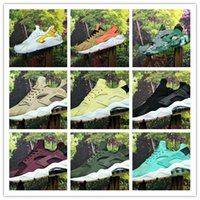 Wholesale huarache new color resale online - 2019 New Color Huarache ID Custom Running Shoes For Men Navy Blue Tan Air Huaraches Sneakers Designer Huraches Brand Hurache Trainers