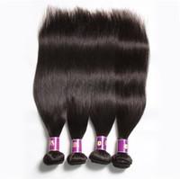 cheveux vierges achat en gros de-2017 nouvelle arrivée En Gros De Vison Vierge Brésilienne de Cheveux Humains 5 Bundles Pas Cher Péruvienne Cheveux Raides Tisse Beauté Fournitures Livraison Gratuite