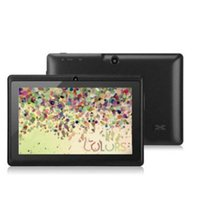 tela externa q88 venda por atacado-BARATO Q88 7 polegada Android 4.4 Allwinner A33 Tela Capacitiva Quad Core 512 MB 8 GB Câmera Dupla Tablet PC Externo com teclado X106