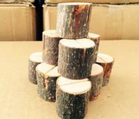 namenskarten stehen groihandel-Heiße Holzstumpf Hochzeitsfeier Empfang Tischkartenhalter Stand Nummer Name Tabelle Menü Bild Foto Clip Kartenhalter Festliche Veranstaltung