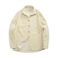 topstoney 2020konng gonng Functional corduroy mens shirt spring and autumn fashion brand casual coat Corduroy Long Sleeve Shirt