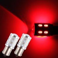 ingrosso ha portato 1156 12-4X 1156 BA15S ha condotto le lampadine luminose a 360 gradi principali p21w R5W luce LED auto freno posteriore fanale posteriore segnale di segnalazione lampadine rosse 12-24V