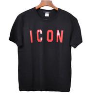 ingrosso buone t-shirt per gli uomini-2019 Estate Nuovo arrivo spedizione gratuita buona marca Designer abbigliamento uomo T-Shirt D2 ICON Stampa T-shirt Uomo donna t-shirt