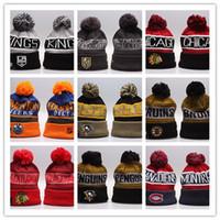 ingrosso cappello di lana invernale nero-Plus Velluto Beanie CANADA Winter Brand Cappello lavorato a maglia Uomini e donne Jacquard Weave Wool Cap Black Eagle Yellow 16fy C1