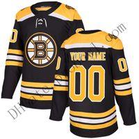 american football hockey jerseys großhandel-Benutzerdefinierte Boston Bruins Eishockey Trikots David Pastrnak Anders Bjork 2019 Stanley Cup Finale Patch Trikot 4xl 5xl 6xl billige Fabrik Frauen 4xl