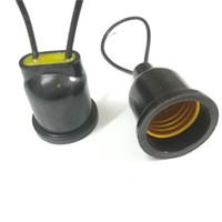 sensor lâmpada automática lâmpada venda por atacado-O suporte 20pcs E27 conduziu as bases da lâmpada impermeáveis