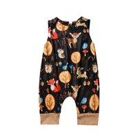 mamelucos chicas venta al por mayor-INS bebé de la venta caliente de dibujos animados mameluco recién nacidos muchachos del mameluco de los mamelucos de los mamelucos del bebé niñas ropa de bebé mono bebé de diseño mono A8479
