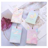 blaues notebook mini großhandel-Zufällige Mini Einhorn Schmücken Mint Blau Geschenk Niedlichen Büro Schulbedarf Kreative Taschenbuch Multifunktions Notebook Schreibwaren
