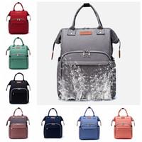 Wholesale baby travel wet bag resale online - Mummy Backpacks Nappy Bag Brand Maternity Baby Multi Function Diaper Bags Outdoor Nursing Bag Designer Travel Backpacks Color DW4483