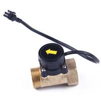 g1 sensor de flujo de agua al por mayor-Control de interruptor de flujo de agua HT800 Fácil instalación de cobre 220V Sensor electrónico Hilo G1 Bomba de refuerzo magnética Ducha automática