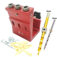 Wholesale set tools carpenter for sale - Group buy 9mm Oblique Hole Drill Degree Angle Pocket Hole Puncher Jig Kit Woodworking Guide Clamp Locator Set Carpenter DIY Tools