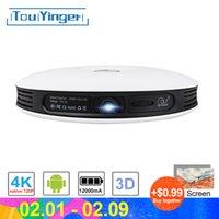 hdmi 2d 3d оптовых-TouYinger G4 Mini 2D в 3D данных DLP проектор показать Android Full HD 4K видео WiFi Bluetooth HDMI Портативный Главная кино Beamer Увеличить