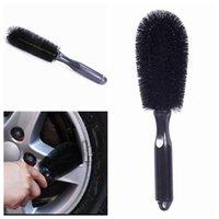 escova de borda venda por atacado-Roda de Lavagem de carro Escova De Pneu de Carro Aro de Limpeza Lidar Com Escovas Ferramenta Lavável Handy Car Washer Brush LJJZ402