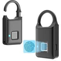 cerradura antirrobo puerta al por mayor-Nueva cerradura segura de huellas dactilares Smart Mini Cerradura de puerta Cerradura electrónica antirrobo