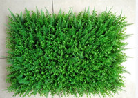 Wholesale plastic grass mat decoration resale online - Artificial Plastic Boxwood Mat cm Synthetic Hedges Fake Foliage Grass Mat For Home Garden Fence Decorations Supplies EEA698
